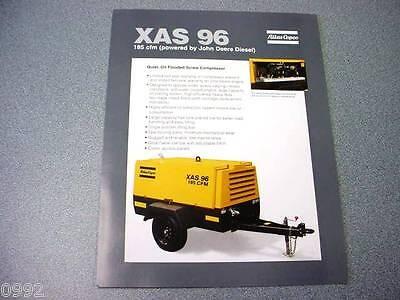 Atlas Copco Xas 96 Portable Compressor John Deere Diesel Brochure