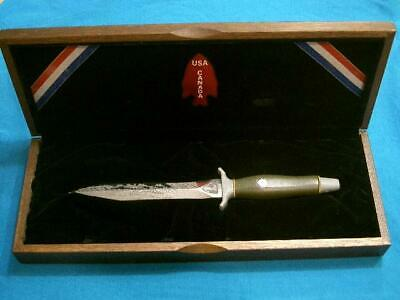 VINTAGE '82 GERBER USA MARK II VIETNAM NAVY COMMANDO COMBAT FIGHTING KNIFE BOWIE