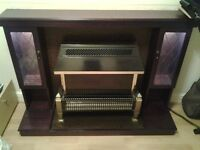 Mahogany Cabinet Fire Surround with Electric Fire