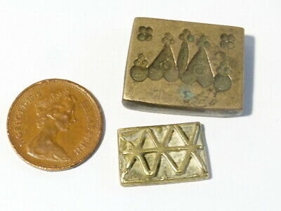 2 x Antique 19thC ASIAN Unknown Seals or SCALE WEIGHTS Unidentified #CW100