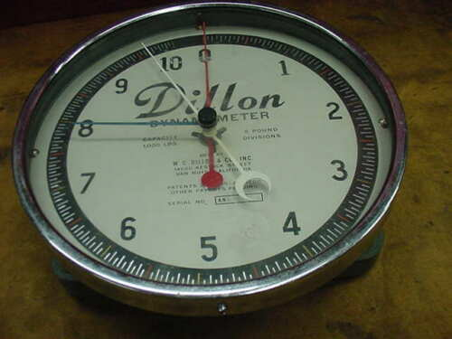 Dillon Dynamometer 1000 lbs Capacity 5 Pound Divisions S/N ANL-122-1