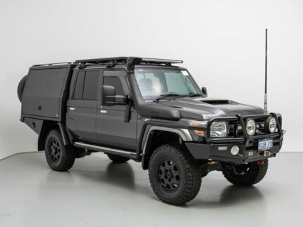 2017 Toyota Landcruiser VDJ79R MY18 GXL (4x4) Grey 5 Speed Manual Double Cab Chassis Jandakot Cockburn Area Preview