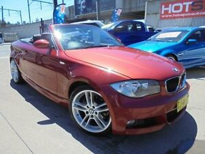 2008 BMW 120I E88 Red 6 Speed Automatic Convertible Holroyd Parramatta Area Preview
