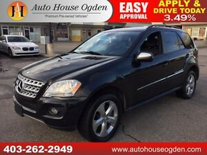 2009 Mercedes ML350 NAVI, BCAM, ROOF, PADDLES 90 DAYS NO PYMT