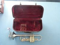 Huttl trumpet and case. Good used condition.