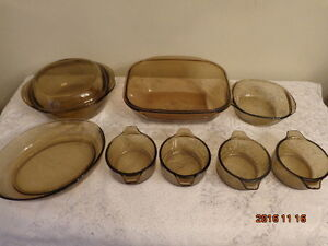 Pyrex & Amber Glass Cookware: All For $15.00!  WOW!