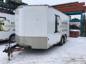 2010 ROYAL XR8 8 FT WIDE X 16 FT' LONG W/ 2' WEDGE NOSE ENCLOSED/CARGO TRAILER - 24CT#18