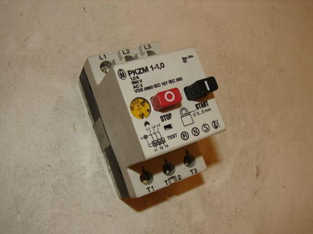 KLOCKNER MOELLER PKZM1-1.0 MOTOR STARTER ****XLNT****