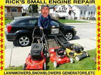 RICK'S   LAWNMOWER REPAIRS (ill fix it there) don't wait 3 weeks