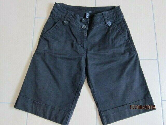 H&M  Coole Kurze Damenhose Stretchhose Jeans Caprihose Bermuda  Hose GR. 36
