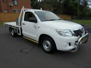2012 Toyota Hilux GGN15R MY12 SR White 5 Speed Manual Cab Chassis Bankstown Bankstown Area Preview
