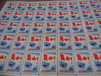 1967 5 Cent Canada Centenial Stamp - Rare Full Sheet