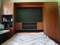 Murphy Bed in a Wall Unit