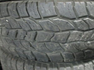 COOPER DISCOVERER AT3 LT245/75R17 10 PLY TIRES 80% TREAD