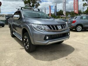 2018 Mitsubishi Triton MQ MY18 Exceed Double Cab Grey 5 Speed Sports Automatic Utility Lilydale Yarra Ranges Preview