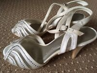 Size 4 Bridal Shoes with diamond detail