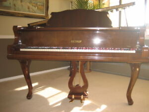 "PETROF 5'8"" EUROPEAN FRENCH PROVINCIAL GRAND PIANO. MAGNIFICIENT"