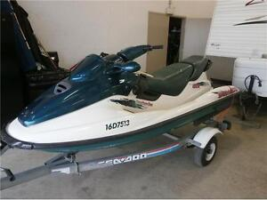 1996 3 SEATER SEADOO GTX 782cc WITH TRAILER! 200 HOURS! $2795!!