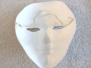 1 PAIR of WHITE SOLID HARD THEATRE BALLROOM GALA FACE Halloween North Shore Greater Vancouver Area image 5