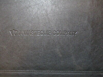 Leeds Black Fauxleather Padfolio W Writing Pad A Wastegroup Company Embosssed