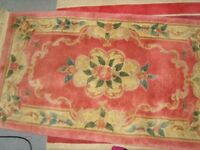 THICK QUALITY HEAVY RUG EXPENSIVE MAIN COLOUR IS PINK WITH FLORAL DESIGN