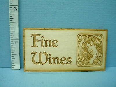 Miniature  Store Sign - Fine Wines SP139  Laser Cut Dragonfly 1/12th Scale](Dragonfly Store)