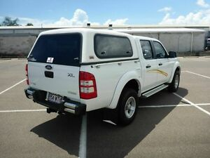 2008 Ford Ranger PJ XL Crew Cab Hi-Rider White 5 Speed Automatic Utility Vincent Townsville City Preview