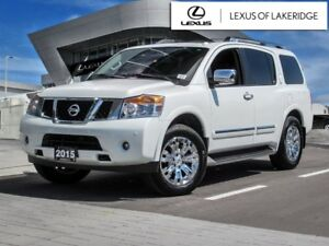 2015 Nissan Armada Platinum Edition, One Owner, No Accidents DVD