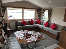 Modern Caravan For Sale With Decking-2 Bedroom-Site Fees Start From £1,118-Sea View-Scotland
