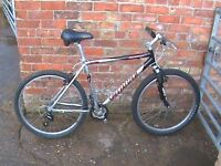 "Specialised hardrock Comp. 19.5"" lightweight Aluminium Framed Mountain Bike, Rock Shox Forks."