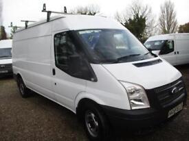 2013 Ford Transit 2.2TDCi NO VAT Med Roof VanT350 LWB 60,000 MILES GUARANTEED