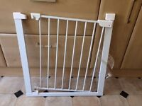White stair gate in good condition