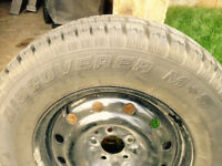 4 Near New Winter Tires on Steel Rims for 2008-2012 Jeep Liberty