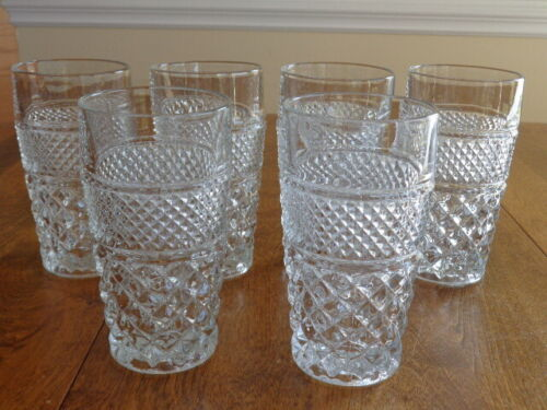 ANCHOR HOCKING WEXFORD 11 OUNCE FLAT TUMBLERS LOT OF 6