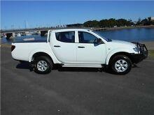 2013 Mitsubishi Triton MN MY13 GLX Double Cab White 4 Speed Sports Automatic Utility Hamilton East Newcastle Area Preview