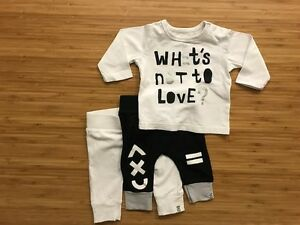 cotton on kids set,  size 000: 2 pants, long sleeve tee New Farm Brisbane North East Preview