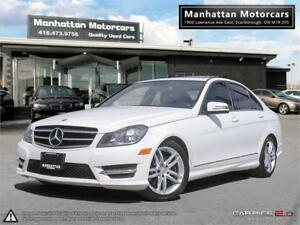 2013 MERCEDES BENZ C300 4MATIC |1OWNER|BLUETOOTH|ROOF|ECO OPTION