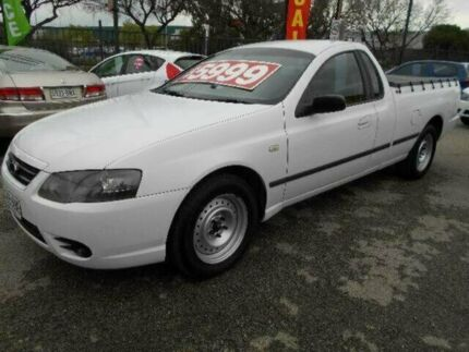 2006 Ford Falcon BF MkII XL White 4 Speed Auto Seq Sportshift Cab Chassis