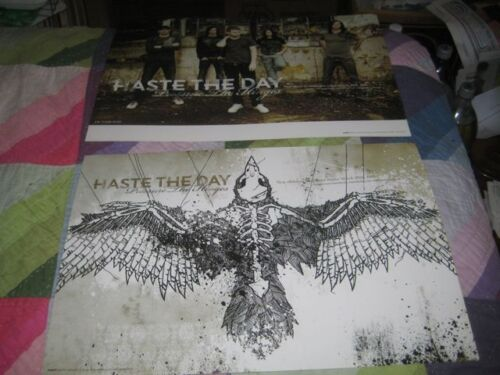 HASTE THE DAY-(pressure the hinges)-1 POSTER-2 SIDED-12X18-NMINT-RARE