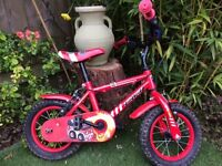 Infant bike with stabilisers 'Firechief Apollo'for learning to ride, good condition