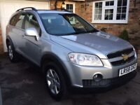 Chevrolet Captiva iin Silver. Automatic, tow bar, 7 seat option and a full history.