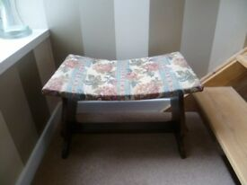 Superb Original Bow Shaped Tapestry Stool.