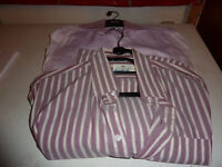 two mens size 38cm long sleeve stripe shirts