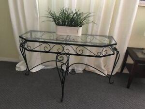 Superbe table art déco en fer forgé
