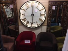 New Large 4ft metal back lit clock