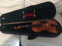 Violin full size with bow and canvas case