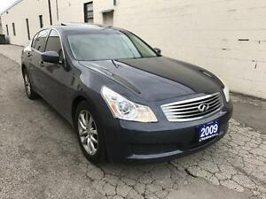2009 INFINITI G37X AWD NO ACCIDENT/TINTED/ CERTIFED