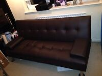 Clic Clac sofa bed measures 36 inches deep, 74 inches long and 32 inches tall £85 ono