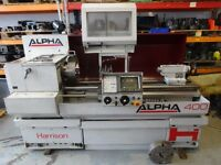 HARRISON ALPHA 400 SEMI CNC TEACH LATHE YEAR 1996
