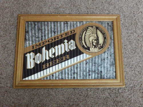Imported Bohemia Beer 15x21 Framed Advertising Glass Mirror Sign Promo-RARE!